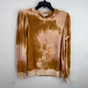 Status By Chenault Women's Rustic Tie Die Long Sleeve Sweater Size Small